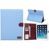 Sky Blue Fabric Covered IPad Case