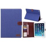 Blue Fabric Covered IPad Case