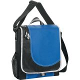 Blue/ Black Boomerang Messenger Bag