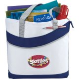 Blue Upswing Zippered Convention Tote