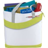 Yellow Upswing Zippered Convention Tote
