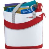 Red Upswing Zippered Convention Tote
