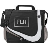Black/ Grey Racer Messenger Bag