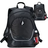 Black Plain and Printed Explorer Backpack