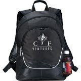 Black Printed Explorer Backpack