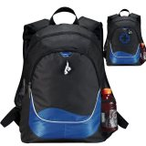 Blue Plain and Printed Explorer Backpack