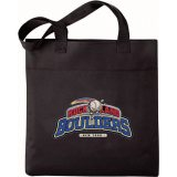 Black Solid Excel Sport Meeting Tote