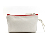 Red Canvas Cosmetic Bag