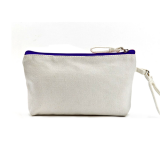 Blue Canvas Cosmetic Bag