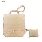 Natural Foldable Calico Bag