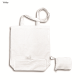 White Foldable Calico Bag