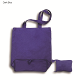 Purple Foldable Calico Bag