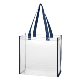 Blue Clear Tote Bag