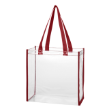 Red Clear Tote Bag