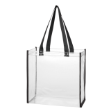 Black Clear Tote Bag
