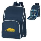 Dark Blue Sorrento 4 Setting Picnic Backpack