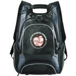 Black Printed Elleven Drive Compu-Backpack