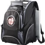 Black Sideways Elleven Drive Compu-Backpack