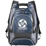 Blue Printed Elleven Drive Compu-Backpack