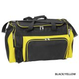 Black/Yellow Classic Sports Bag