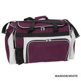 maroon/White Classic Sports Bag