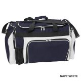 Navy/White Classic Sports Bag