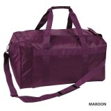 Maroon Nylon Sports Bag