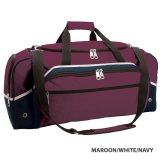 Maroon/White/Navy Advent Express Sports Bag