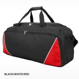 Black/white/Red Rounded Sports Bag Express