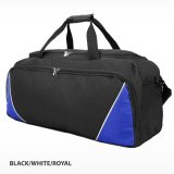 Black/White/Royal Rounded Sports Bag Express