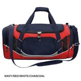 Navy/Black/White/Charcoal Atlantis Sports Bag Embroidered