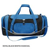 Royal/Black/White/Charcoal Atlantis Sports Bag Embroidered