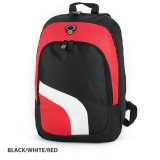 Red/White/Black Backpack with Inside Zippered Mesh Pocket Expres