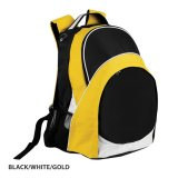Black/White/Gold Harvey Backpack