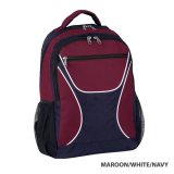 Maroon/White/Navy Backpack