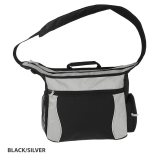 Black/SIlver Mythos Shoulder Bag