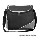 Black/White/Charcoal Caddy Carry Cooler Bag