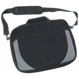 Black/Silver Hudson Padded Shoulder Bag Express
