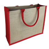 Natural/Red Jute Bag Colored