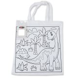 Colouring in Short Handle Tote Bag with Crayons
