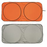 Orange and Silver Car Sun Shade
