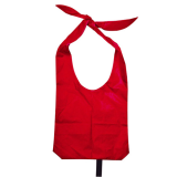 Red Nylon Sling Bag With Open Handles