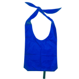Blue Nylon Sling Bag With Open Handles