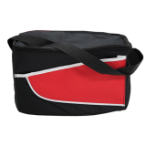 Black/Red Nylon Cooler Bag Colored