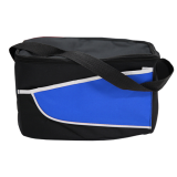Black/Blue Nylon Cooler Bag Colored