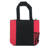 Black/Red Karryall Nylon Shopping Tote