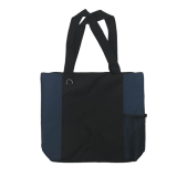 Black/Navy Karryall Nylon Shopping Tote