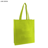 Lime Non Woven Bag With Large Gusset