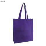 Purple Non Woven Bag With Large Gusset