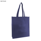 Navy Blue Non Woven Bag With Large Gusset
